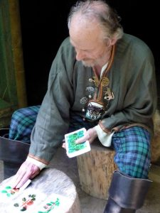 Greywolf reading the Druid Ogham Oracle Cards