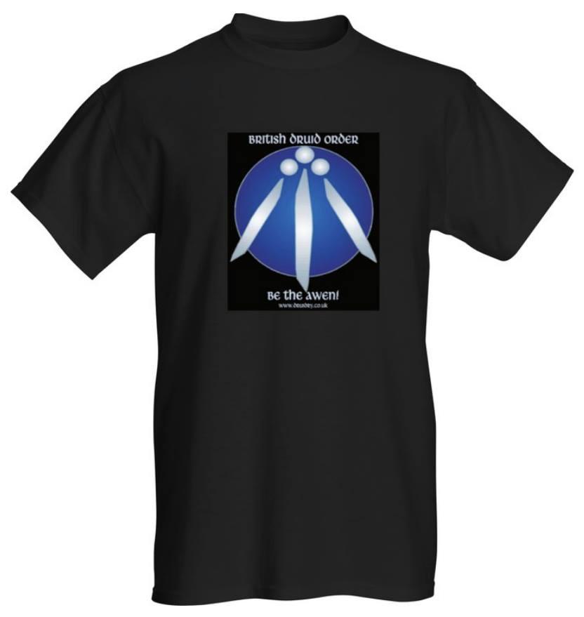 british druid order be the awen t-shirt