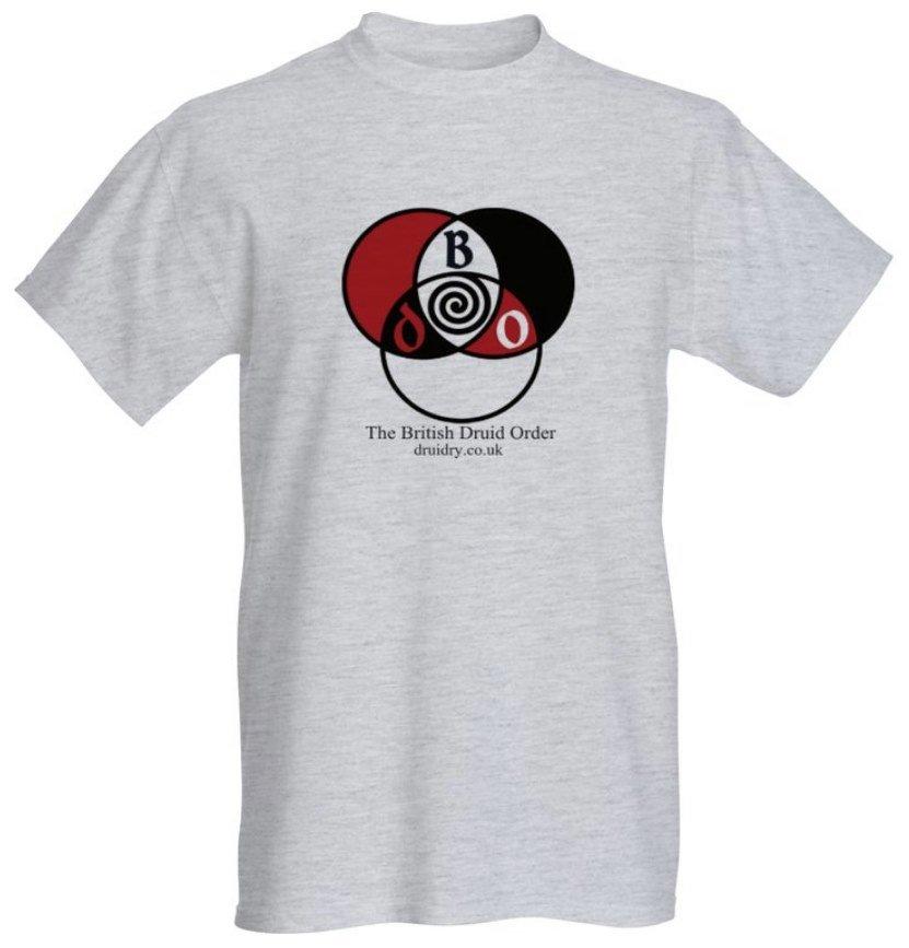 british druid order tri-colour spiral druid t-shirt